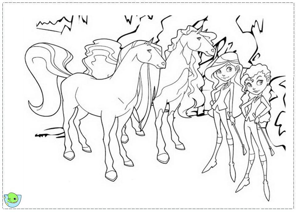 Coloriage horseland gratuit - dessin a imprimer #135