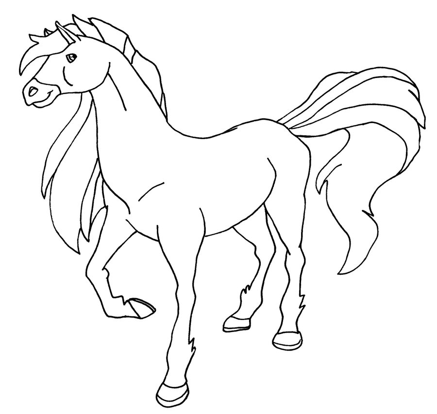 Coloriage horseland gratuit - dessin a imprimer #144
