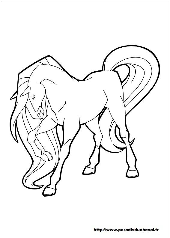 Coloriage horseland gratuit - dessin a imprimer #15