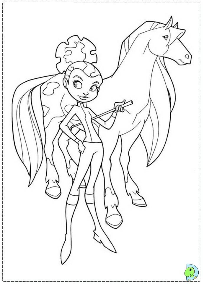 Coloriage horseland gratuit - dessin a imprimer #150