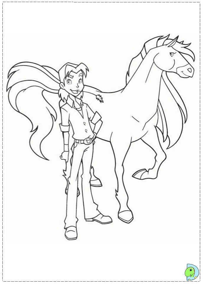 Coloriage horseland gratuit - dessin a imprimer #175
