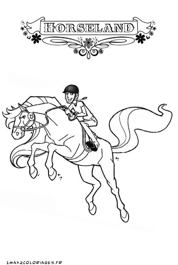 Coloriage horseland gratuit - dessin a imprimer #184