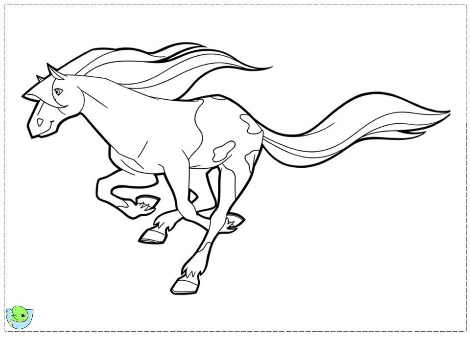Coloriage horseland gratuit - dessin a imprimer #194
