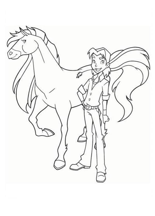 Coloriage horseland gratuit - dessin a imprimer #227
