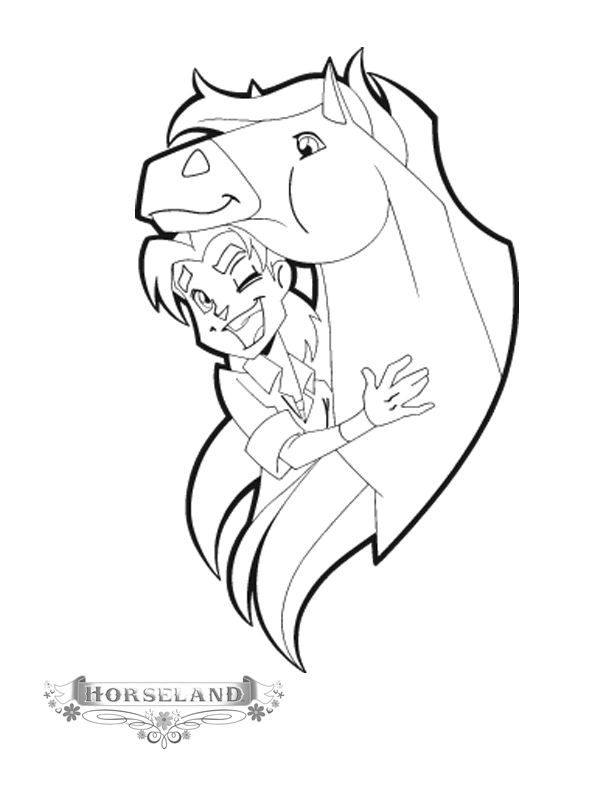 Coloriage horseland gratuit - dessin a imprimer #27