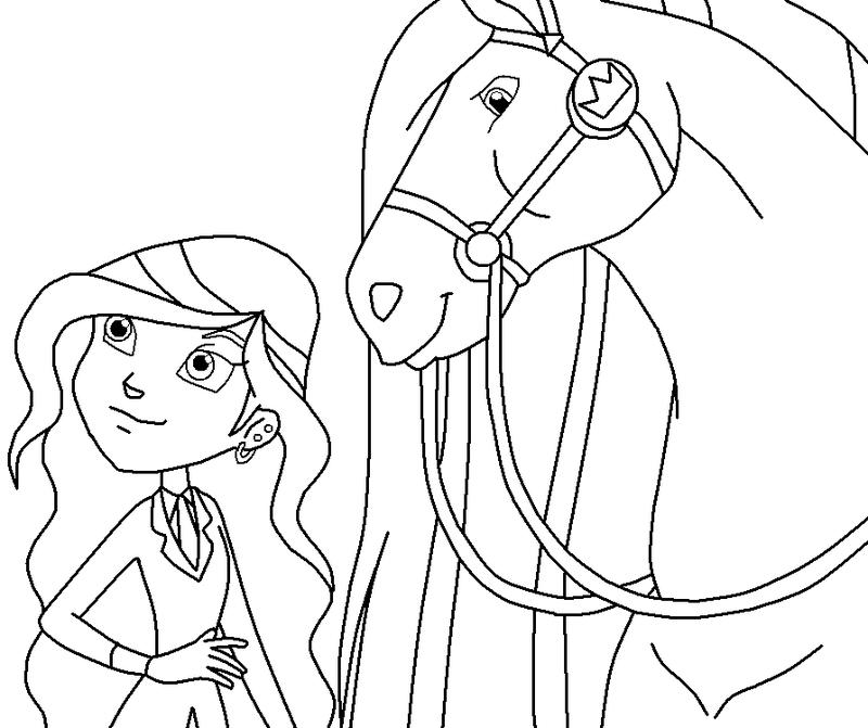 Coloriage horseland gratuit - dessin a imprimer #28