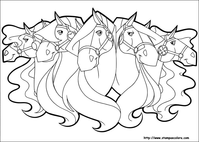 Coloriage horseland gratuit - dessin a imprimer #285