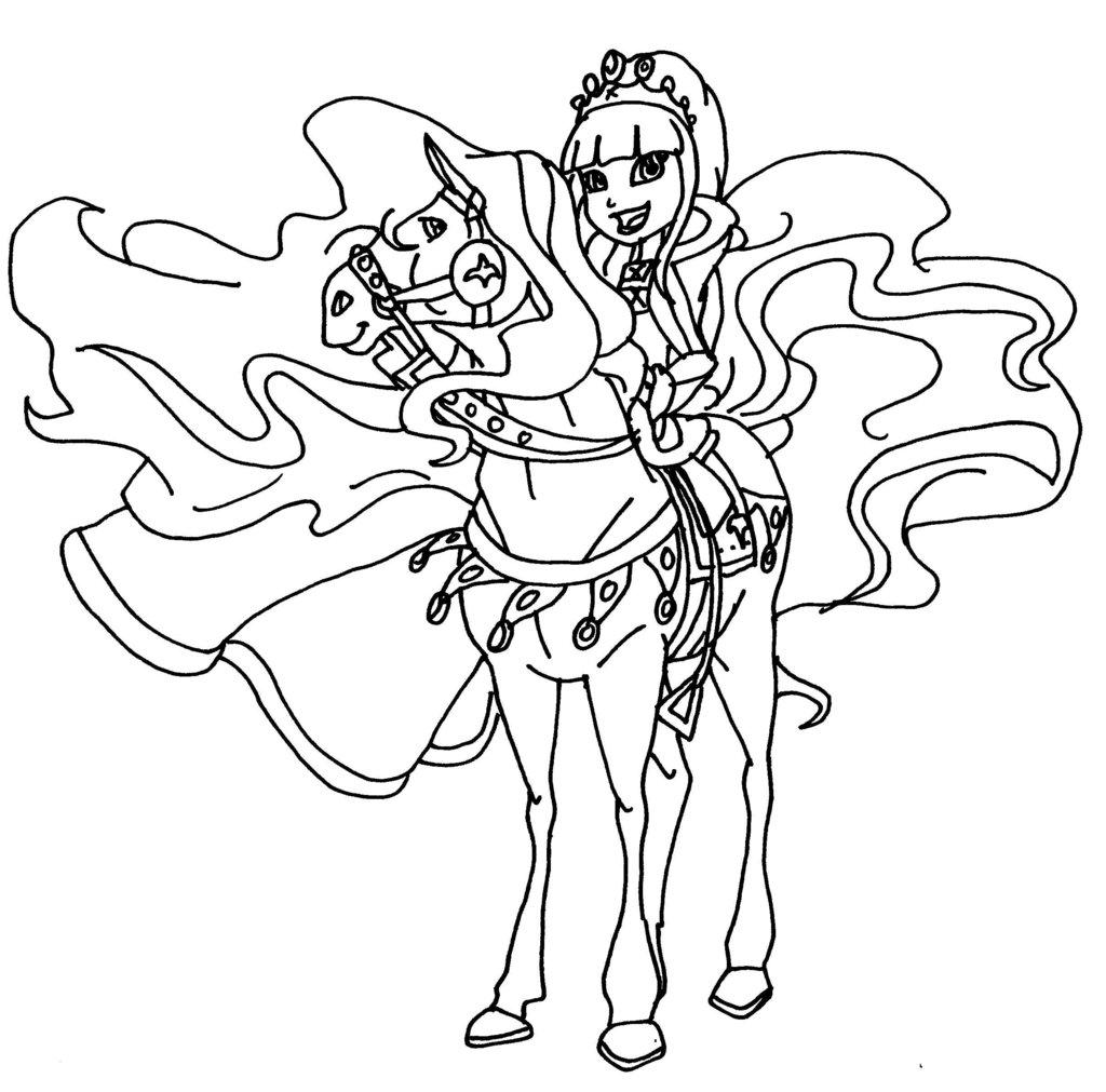 Coloriage horseland gratuit - dessin a imprimer #30