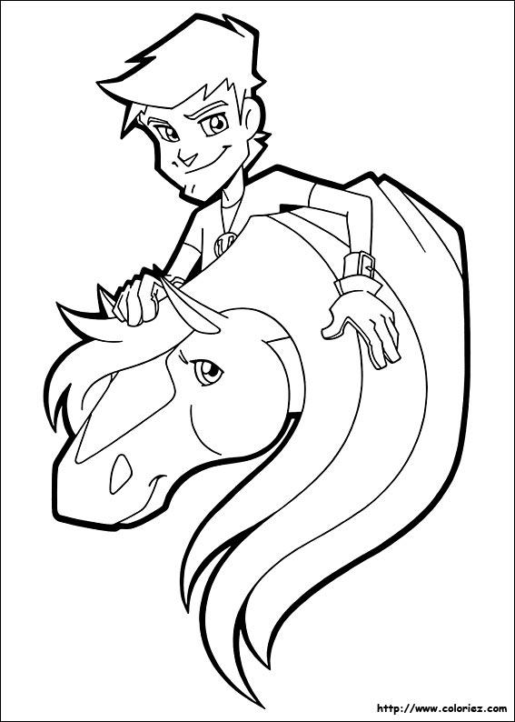 Coloriage horseland gratuit - dessin a imprimer #32