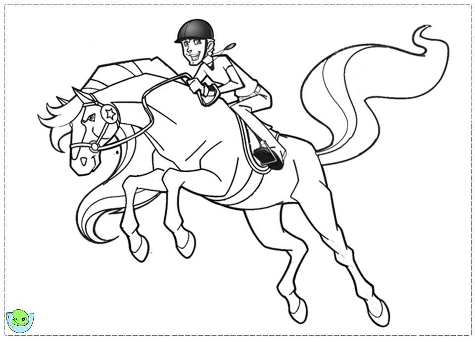 Coloriage horseland gratuit - dessin a imprimer #48