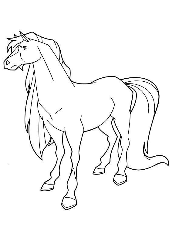 Coloriage horseland gratuit - dessin a imprimer #5