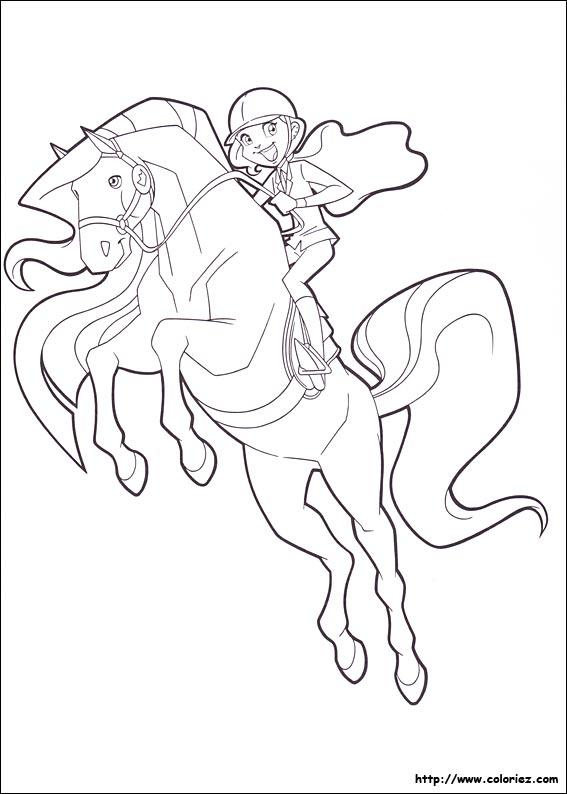 Coloriage horseland gratuit - dessin a imprimer #6
