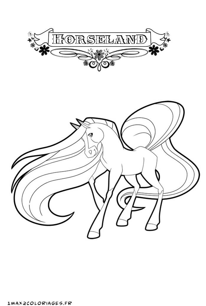 Coloriage horseland gratuit - dessin a imprimer #64