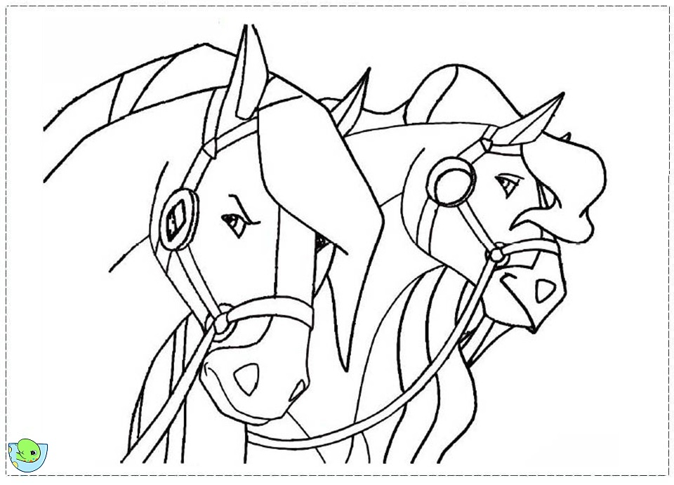 Coloriage horseland gratuit - dessin a imprimer #68