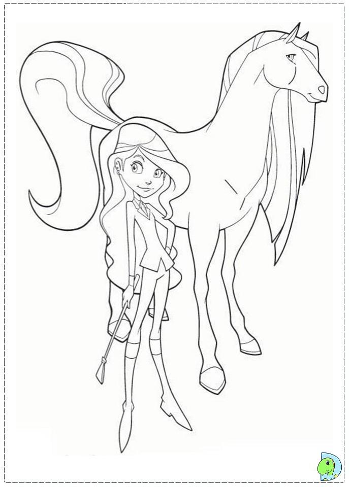 Coloriage horseland gratuit - dessin a imprimer #69