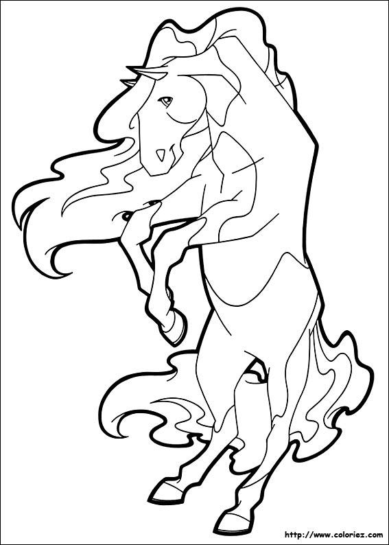 Coloriage horseland gratuit - dessin a imprimer #71
