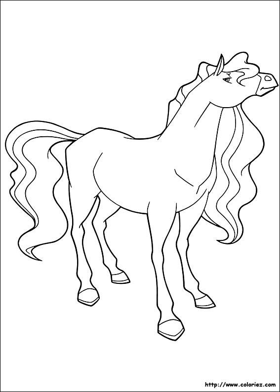 Coloriage horseland gratuit - dessin a imprimer #72