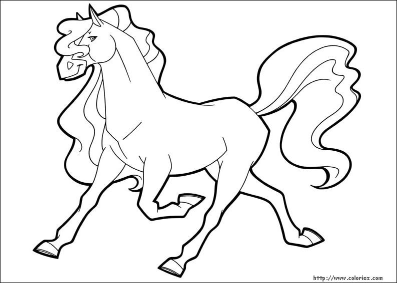 Coloriage horseland gratuit - dessin a imprimer #75
