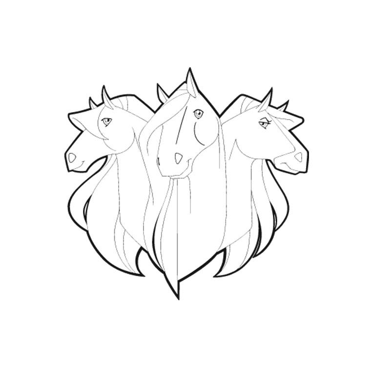 Coloriage horseland gratuit - dessin a imprimer #77