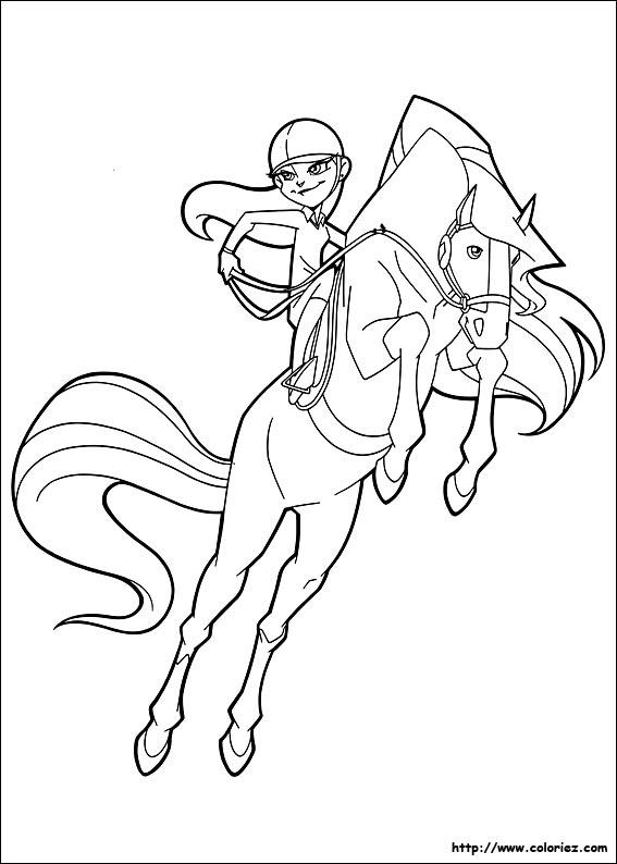 Coloriage horseland gratuit - dessin a imprimer #85