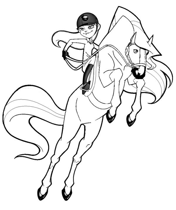 Coloriage horseland gratuit - dessin a imprimer #9
