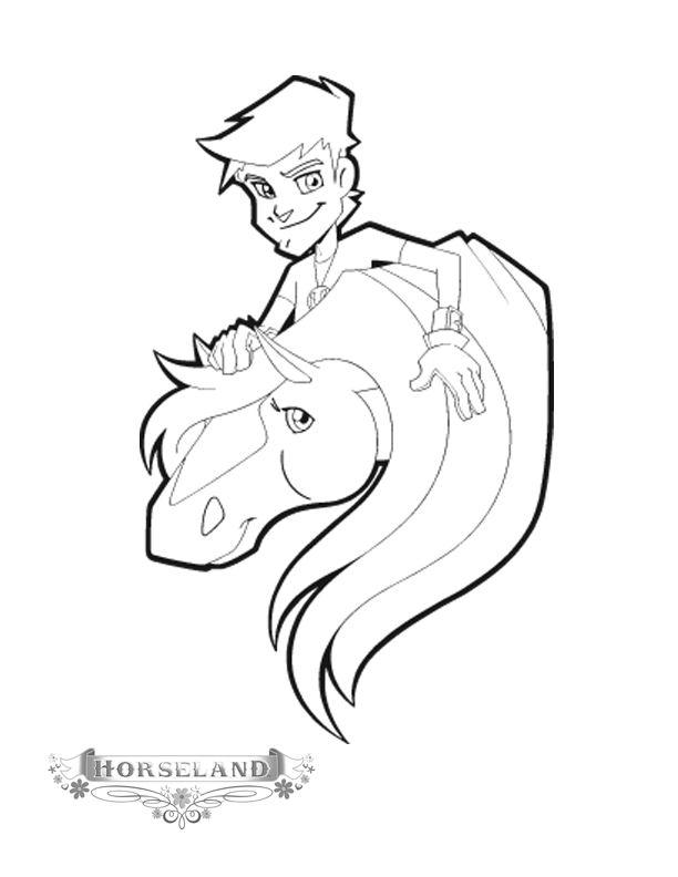 Coloriage horseland gratuit - dessin a imprimer #96