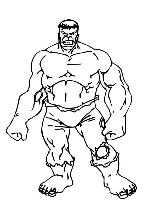 coloriage hulk a imprimer