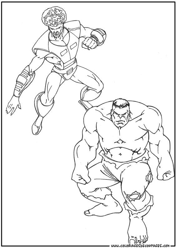 hulk coloriage à colorier