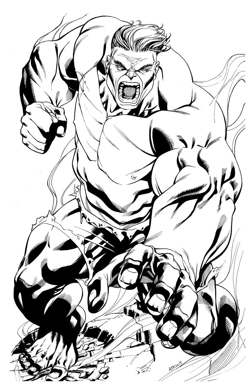hulk dessin à colorier A imprimer