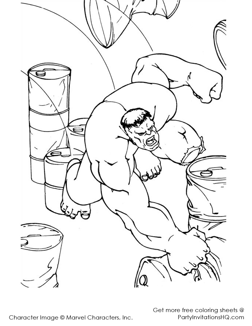 incredible hulk dessins à colorier