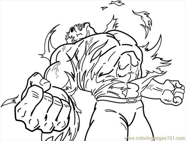 dessins à colorier hulk (cartoons hulk) gratuit à imprimer dessin à colorier