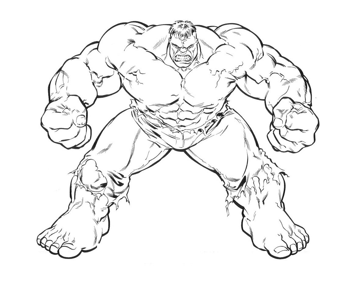 hulk coloring pages - photo #22