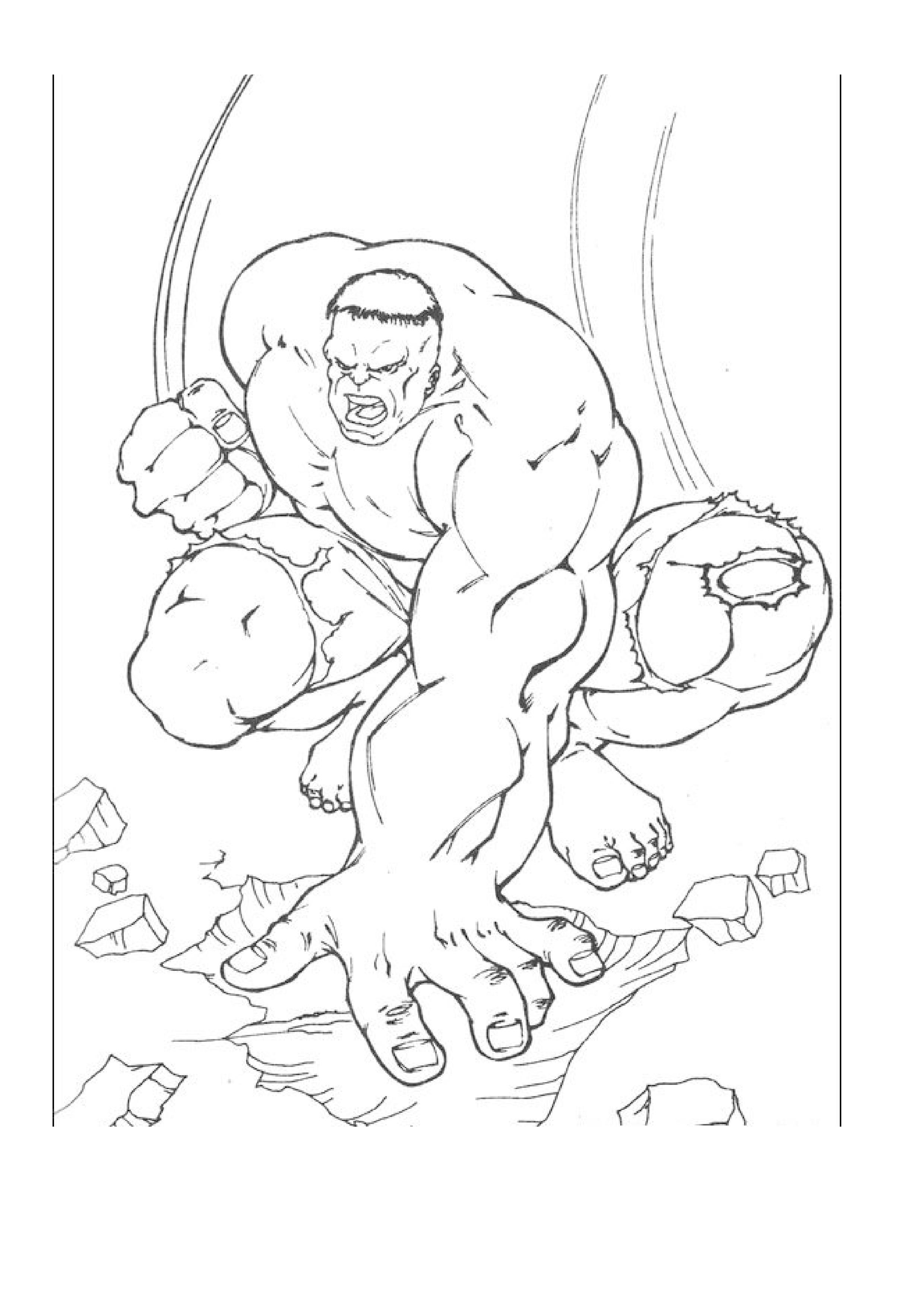 image de hulk a dessiner et imprimer
