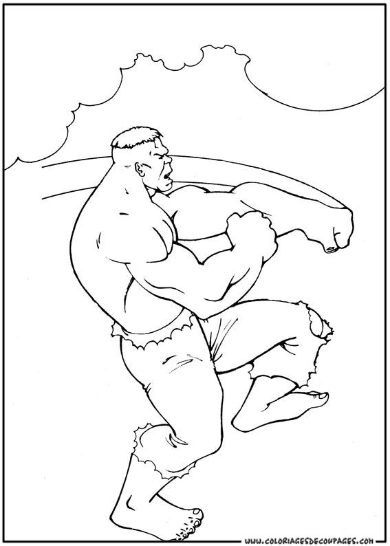 hulk coloriage à colorier les coloriages et dessin imprimer