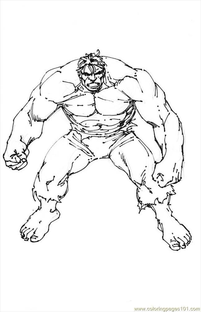 dessins à colorier hulk frank (cartoons hulk) gratuit à imprimer coloriage