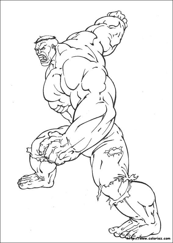 coloriage de hulk gratuit