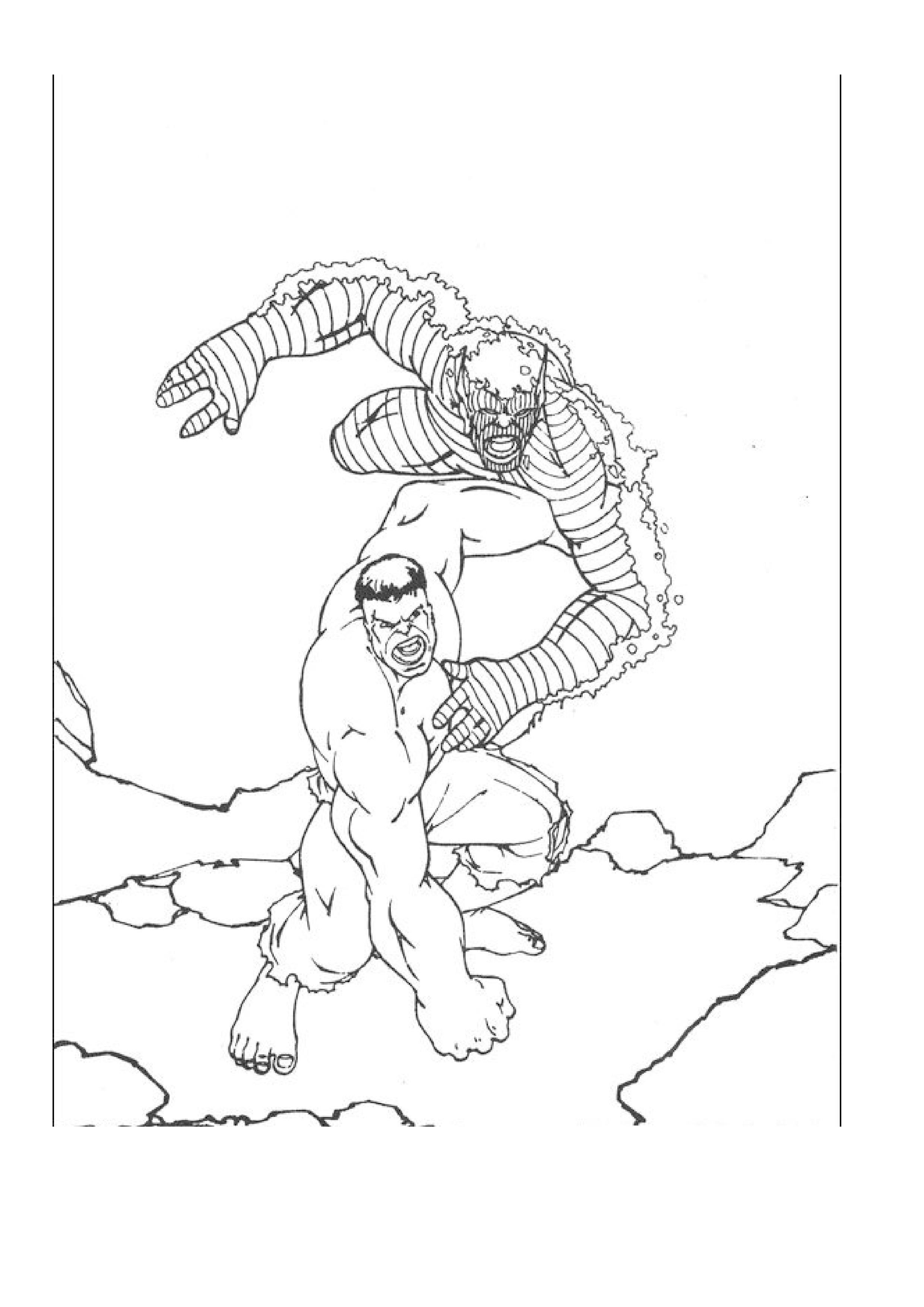 imprimer coloriage dessins cinéma hulk .