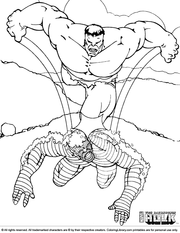 hulk dessin à colorier back to hulk coloriage