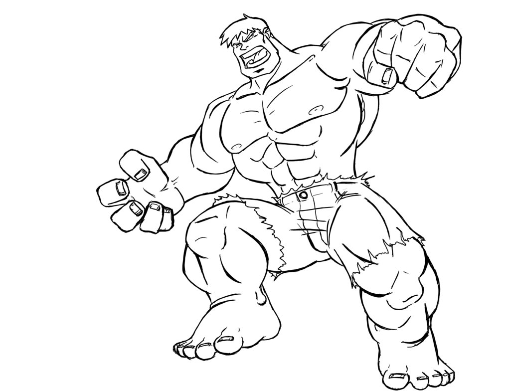 hulk dessins à colorier gratuit à imprimer sea4waterman