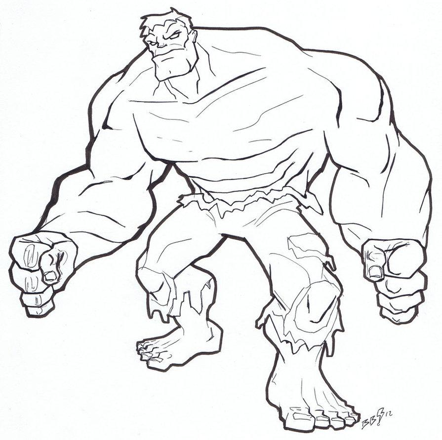 disegni hulk à colorier dessin à colorier