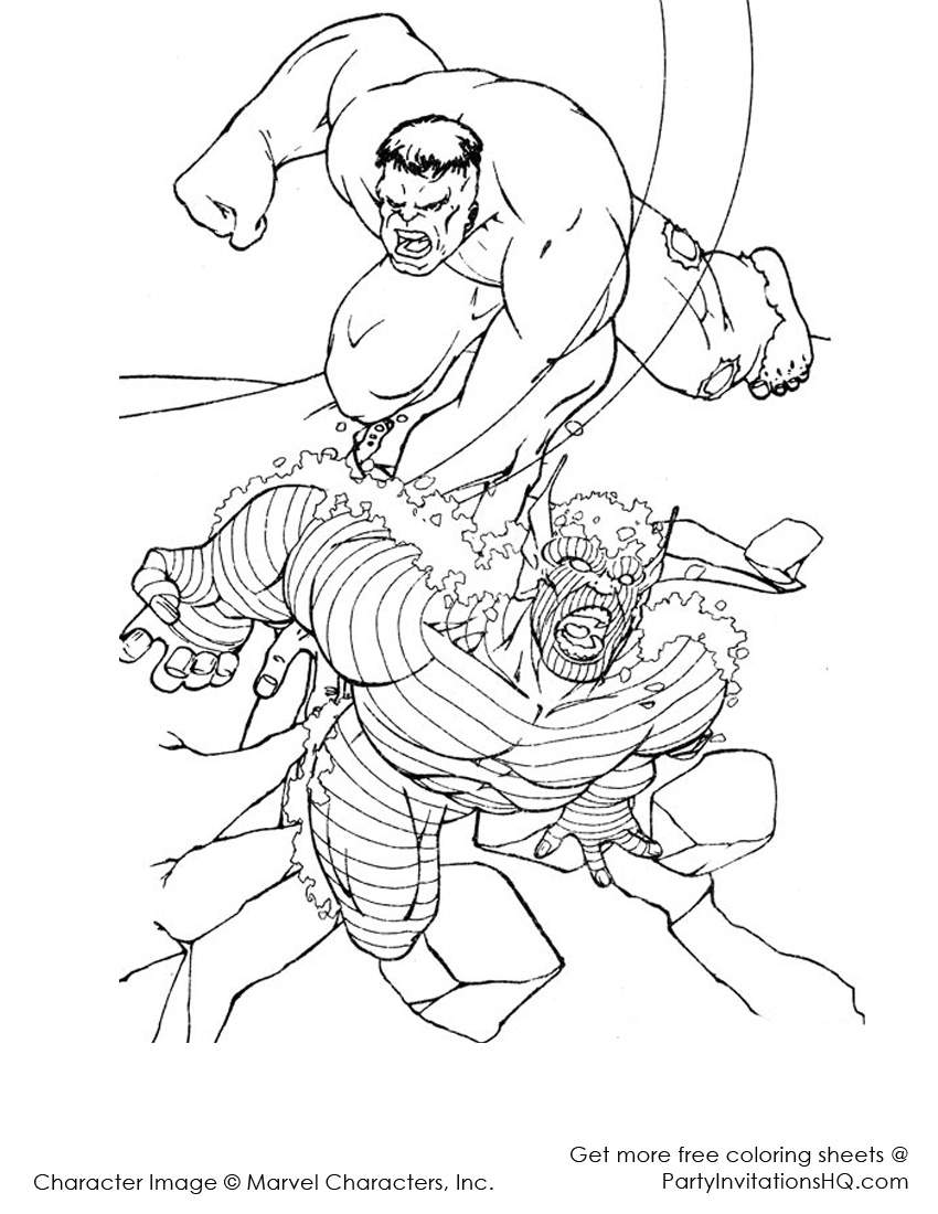 hero hulk beyond dessin à colorier