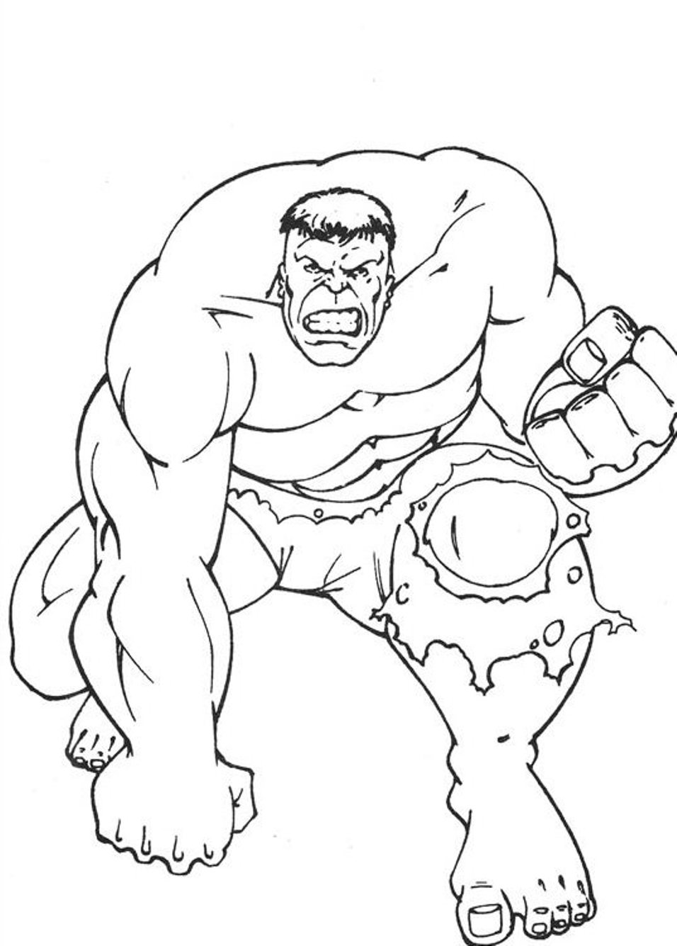 awesome hulk dessins à colorier