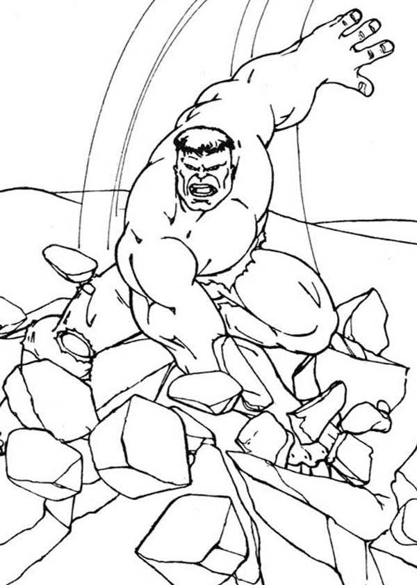 here: home the hulk hulk smashing floor dessin à colorier