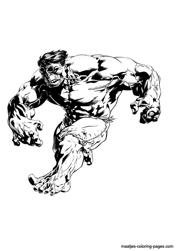 hulk dessin à colorier