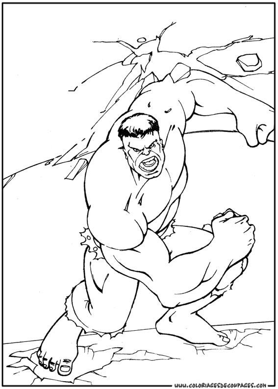 coloriage hulk coloriage