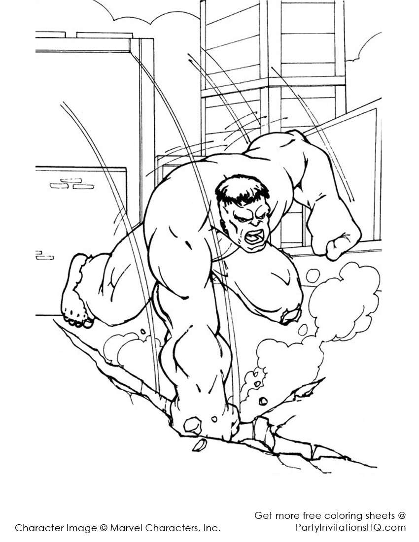disegni di hulk à colorier dessin à colorier