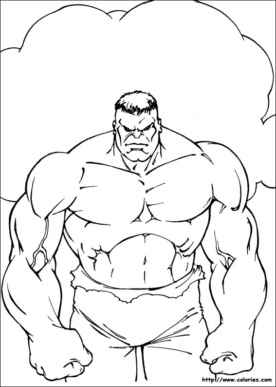 coloriage hulk jun : k