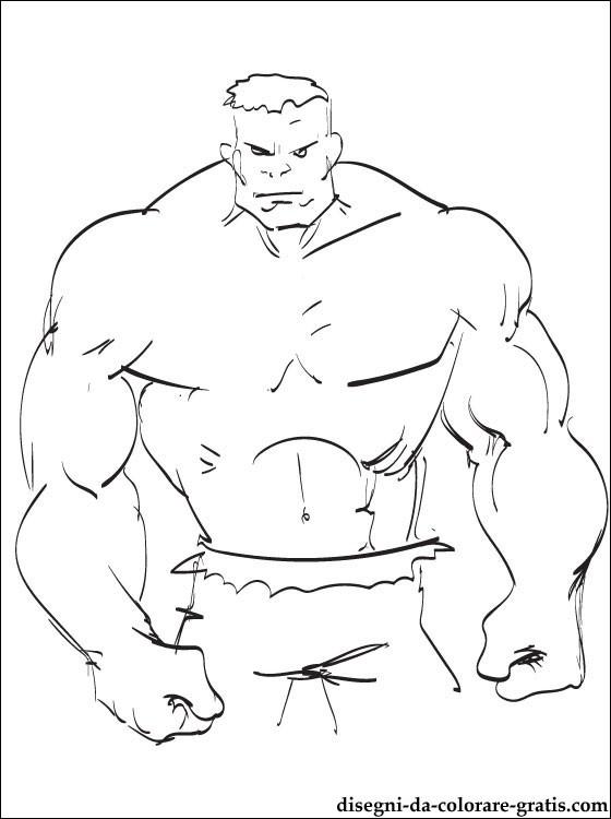 disegni di hulk potente à colorier per bambini con hulk. stampa