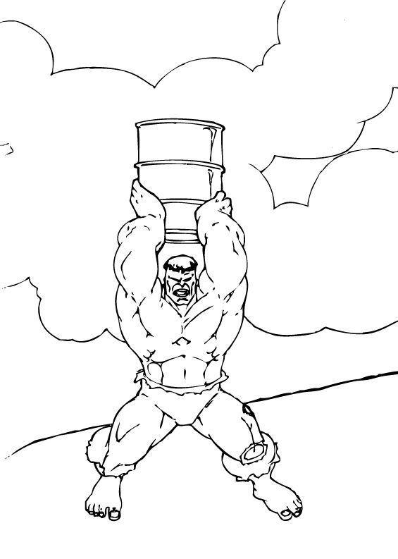 coloriage à colorier hulk image