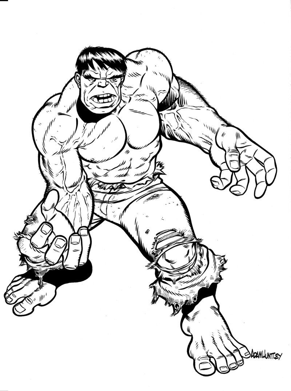 gratuit à imprimer hulk dessins à colorier pour enfants